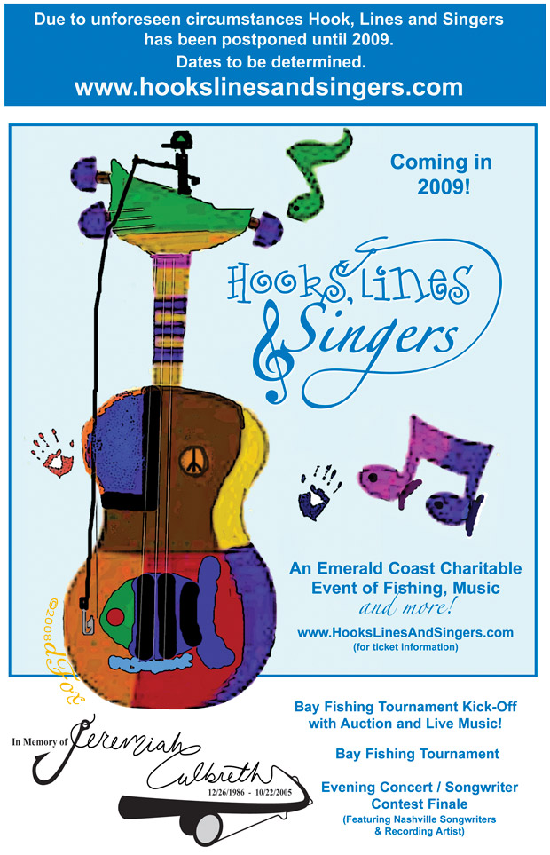 Hooks Lines Singers festival events poster